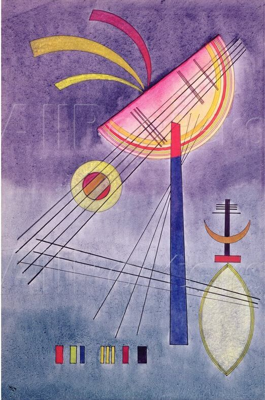Leaning Semicircle, 1928 by Wassily Kandinsky