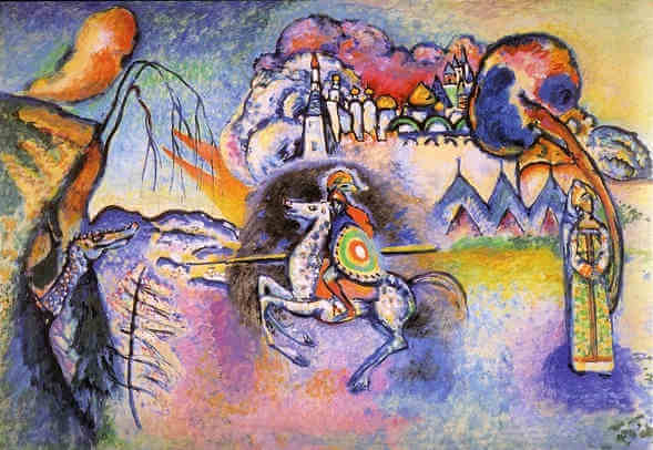 Rider St George, 1914 by Wassily Kandinsky