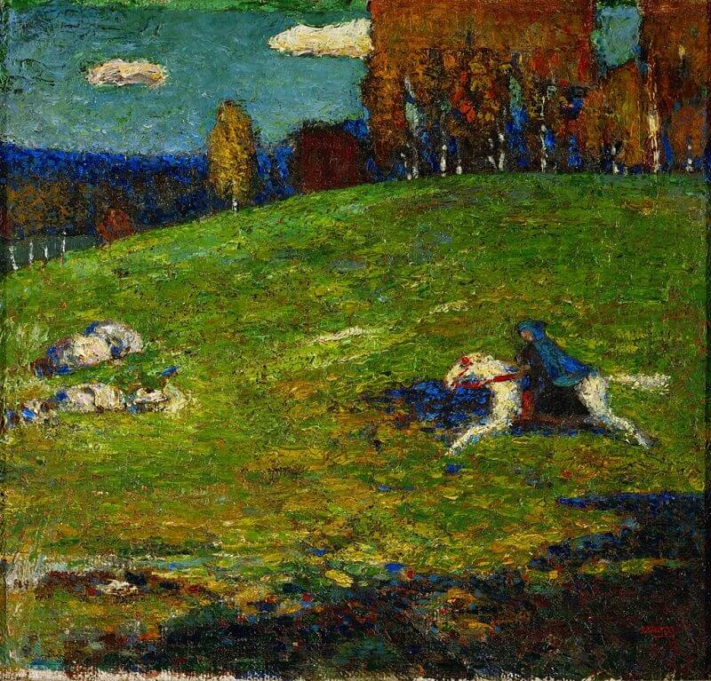 The Blue Rider, 1903 by Wassily Kandinsky